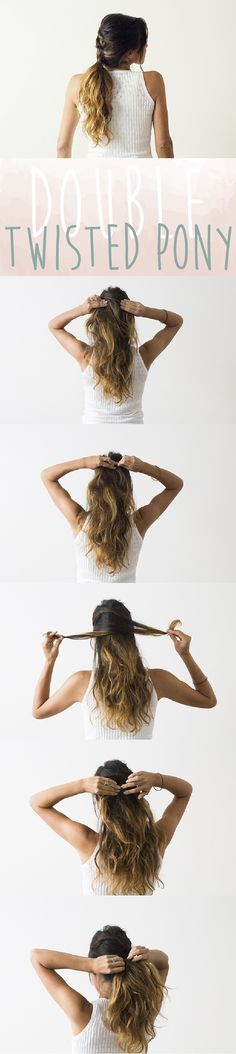 Adorable double twisted pony you in 5 simple steps! http://www.ehow.com/ehow-style/blog/3-fresh-ways-to-style-a-messy-ponytail/?utm_source=pinterest&utm_medium=fanpage&utm_content=blog