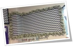 chevron with burlap border!