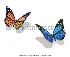 stock vector: Vector de mariposa colección