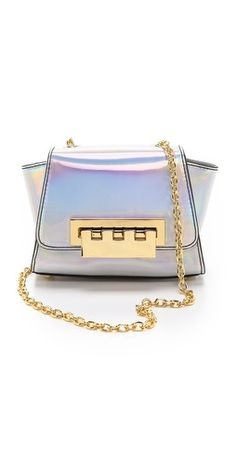 { ZAC Zac Posen Holographic Eartha Mini Cross Body Bag }