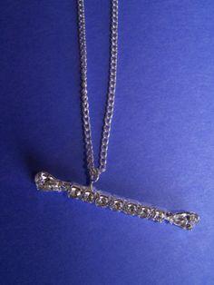 Rhinestone Baton Necklace - $11.00