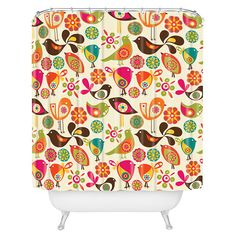 Cute Little Birds Shower Curtain - this would brighten up your shower.