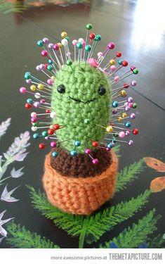 Cactus pin cushion. So cute!