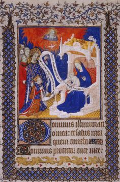 Henry VI presented by St Louis to the Virgin and Child ~ Psalter of Henry VI (Paris, c.1405–10).