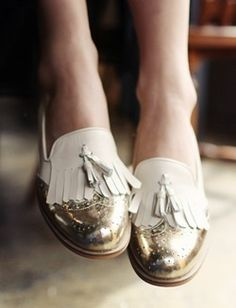 fashion + style | loafers with a twist + gold