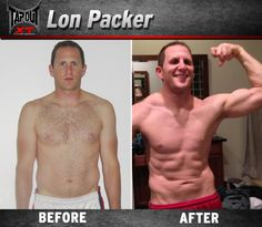 Lon found his summer abs with TapouT XT!! Earned with sweat!