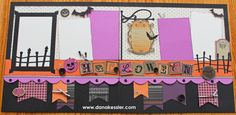 Scaredy Cat Halloween Scrapbook Layouts CTMH #cricutexplore #ctmh #scraptabulousdesigns