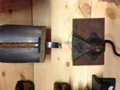 Old coffee grinder and feed scoop