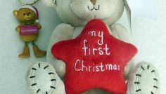 » 1ST CHRISTMAS TEDDY BEAR & TREE DECORATION
