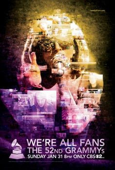Lady Gaga 'We're All Fans' 52nd GRAMMY Awards Campaign