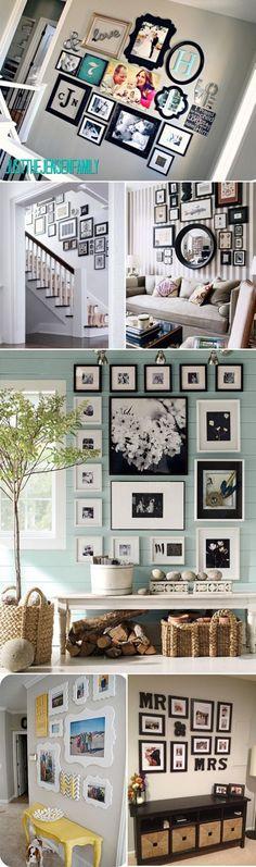 picture arrangements, photo walls, photo arrangement, picture walls, picture frames, framed pictures, photo collages, wall arrangements, frame walls