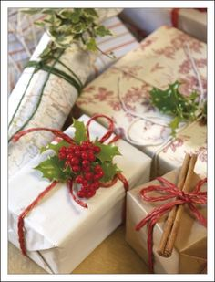 holiday, wrap gift, brown paper packages, diy gift, wrapping gifts
