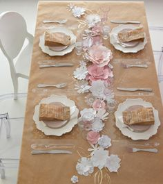 make a paper tablecloth