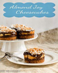 Almond Joy Cheesecakes