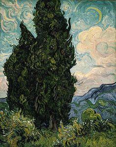 Vincent Van Gogh - Cypresses