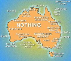 funny Australia map
