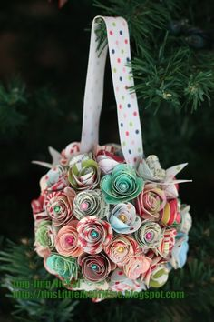 so cute...made from paper flowers