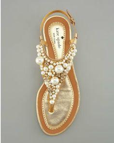 summer sandals, pearl sandal, wedding shoes, pearls, dress, flat, beach weddings, kate spade, spade pearl