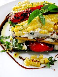 End of Summer Veggie Stacks - Proud Italian Cook
