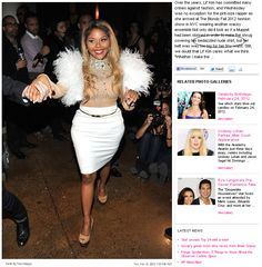 "Lil' Kim's Light Tan Shirt Described as ""Nude"" (click thru for analysis)"