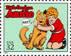 sunday comic, postag stamp, comics, classic comic, little orphan annie