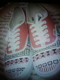 Tribal print shoes