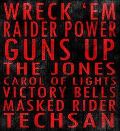 Texas Tech University Red Raiders art board
