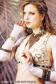 Shrug S M or L White Stretch Lace Snake Arms by darkfusionboutique, $40.00