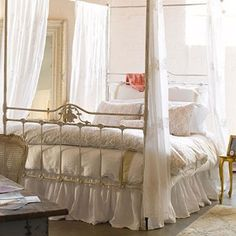 Shabby Chic canopy...want this!!