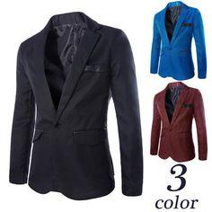 Single Button Slim Fit Men Fashion Blazer | Sneak Outfitters