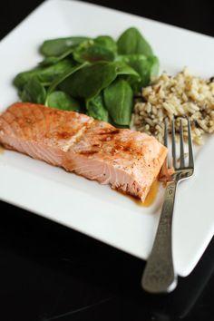 maple soy glazed salmon from @عبدالعزيز الجسار Bukhamseen Week for Dinner