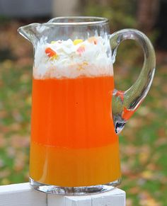 Candy Corn Halloween Drink - Holidays