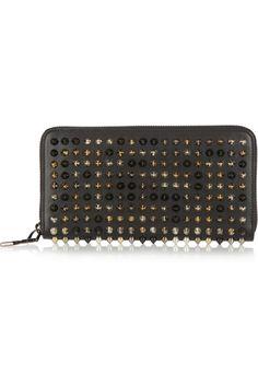 Christian Louboutin | Panettone spiked leather wallet | NET-A-PORTER.COM