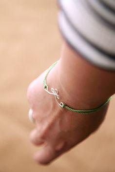 DIY Wire Charm Bracelet from alyssaandcarla.com