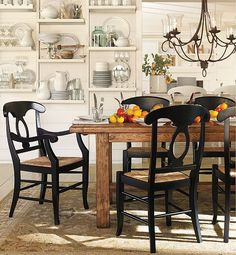 dining areas, dining rooms, chair, dine room, rustic table, shelv, kitchen, pottery barn, dining tables