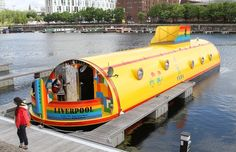Liverpool's floating Yellow Submarine hotel.  Who's going with me?