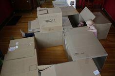 Crafting family fun; DIY cardboard boxmaze