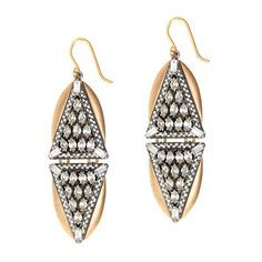 Crystal triangles earrings / by J.Crew