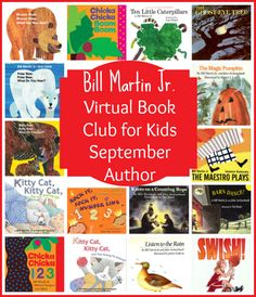 Bill Martin Jr. Virtual Book Club for Kids September Author - Find out how you can join us!