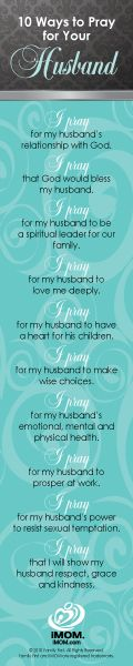10 Ways to Pray for Your Husband. Never to early to start!