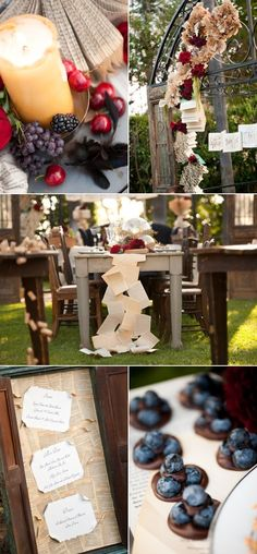Over the top Wedding Ideas - book themed rehearsal dinner? sounds perfect!