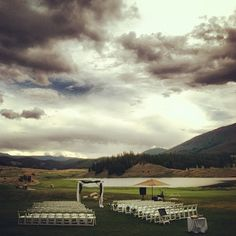 Lawn ceremony at the Keystone Ranch Restaurant and Golf Club.  Keystone, Colorado. www.celebrationsbykat.com