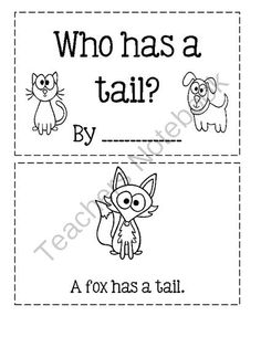 Sight Word Book: has from Angie's  Page  For Young Learners on TeachersNotebook.com -  (5 pages)  - Who has a tail?