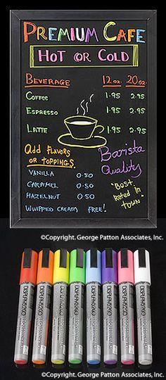 Liquid Chalk Marker: Set of 8
