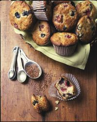 Try Our Recipe for Almond and Mixed Berry Muffins with Flaxseed -full of fiber and taste great!