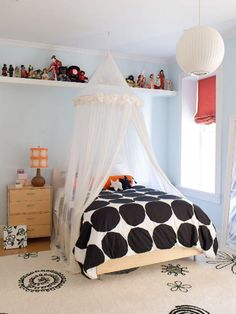 canopi, polka dots, kid bedrooms, beds, teen rooms