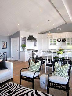 chair, garage apartments, studio apartments, orange county, apartment design, black white, kitchen, beach styles, zebra print