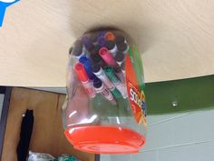 Tide Pod Container. Great for storing markers!