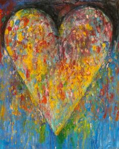 Jim Dine, one of his iconic heart pieces, American pop artist, b.1935