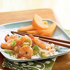 Shrimp Recipes Under 200 Calories  | Stir-Fried Ginger Shrimp | MyRecipes.com